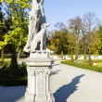 Garden Sculptures in the Wilanow park, Warsaw — Stock Photo #55245747