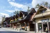 Wooden stylish building in Zakopane — Stock Photo