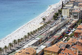 Aerial view of Les Ponchettes in Nice, France — Stock Photo