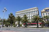 The Hotel West End and Promenade des Anglais, Nice — Stock Photo