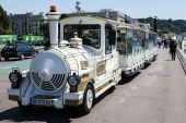 Tourist train in Nice in France — Stock Photo