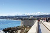 Quai Rauba Capeu, Nice, France — Stock Photo