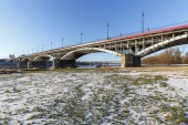 Bridge over Vistula river in Warsaw — Stock Photo