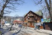 Restaurant named Gazdowo Kuznia in Zakopane — Stock Photo