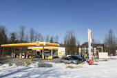 Shall Gas Station located in Zakopane — Stock Photo