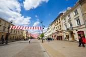Krakowskie Przedmiescie Street, Warsaw, Poland — Stock Photo