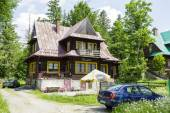 Wooden villa named Lucylla, Zakopane — Stock Photo
