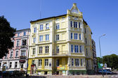 Townhouse in the style of eclecticism in Kolobrzeg — Stock Photo