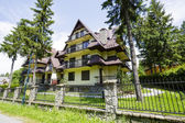 A complex of modern buildings in Zakopane — Stock Photo