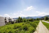 Green areas at Paradlowka in Zakopane — Stock Photo