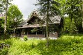 Jadwiniowka I, wooden villa in Zakopane — Stock Photo