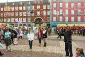 MADRID,SPAIN - DECEMBER 18: Famous Christmas market full of shop — Stock Photo