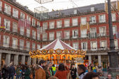 MADRID,SPAIN - DECEMBER 18: Famous Christmas market full of shop — Stock Photo