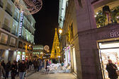 MADRID,SPAIN - DECEMBER 18: The streets of Madrid are filled wit — Stock Photo
