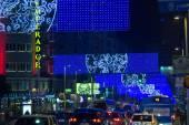 MADRID,SPAIN - DECEMBER 18: traffic on the streets of Madrid dur — Stockfoto