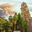 Bell tower of the Cathedral of the Incarnation in Malaga, Spain — Stock Photo #61317495