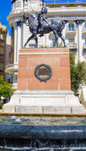 Equestrian statue of Spanish military famous Gran Capitan — Stock Photo