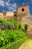 Courtyards and gardens of the famous Palace of the Alcazaba in M — Stock fotografie