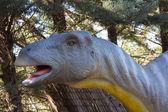 Slow herbivorous dinosaur Brachiosaurus — Stock Photo