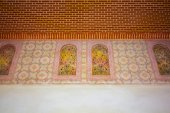 Ceilings decorated in the famous Palace of the Alcazaba in Malag — Stock Photo