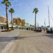 Modern leisure area in the port of Malaga, Spain — Stock Photo #61321807