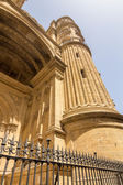 Details of the curious cylindrical towers of the Cathedral of th — Stock Photo