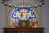 Colored glass in a church — 图库照片