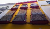 Old shutters typical straw Sevilla, Spain — Stockfoto