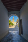Arcades to the heat of the day in ciudd Seville, Spain — ストック写真