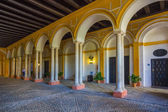 Arcades to the heat of the day in ciudd Seville, Spain — Foto Stock