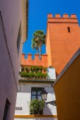 Beautiful streets full of typical color of the Andalusian city o — Foto Stock