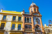 Arabesque style buildings with highly decorated in Seville, Spai — Stock Photo