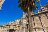 Details of the facade of the cathedral of Santa Maria La Giralda — Stock Photo