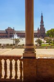 Columns arches near the famous Plaza of Spain in Seville, Spain — Stock Photo