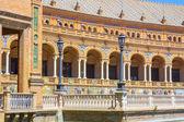 Columns arches near the famous Plaza of Spain in Seville, Spain — Foto de Stock