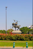 Monument in Catalina Rivera Gardens in the city of Seville, Spai — 图库照片