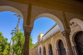 Inner courtyard with columns and arches of the famous mosque of  — Stock Photo