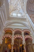 Christian area is mixed with Islam in the mosque of Cordoba, Spa — ストック写真