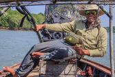 Longtail boat captian — Stock Photo