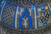Hand painted Moroccan plate — ストック写真