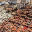 Tannery tanks in Fes, Morocco — Stock Photo #71290239
