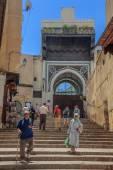 Fes Fas Medine Caddesi — Stok fotoğraf