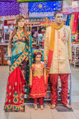 Mannequins dressed in indian clothing — Stock Photo
