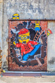 Penang mural with Minions — Stock Photo