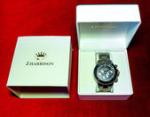 J HARRISON wristwatch. — 图库照片
