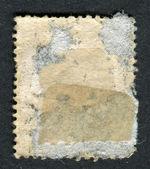 Omkeren van de kant van een postzegel. — Stockfoto