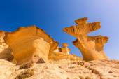 Bolnuevo Mazarron eroded sandstones Murcia — Stock Photo