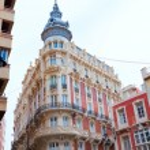 Cartagena Gran Hotel Art Noveau in Murcia Spain — Stock Photo #54582077