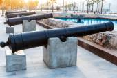Cartagena cannon Naval museum port at Spain — Stock Photo