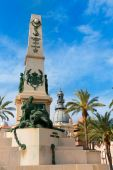 Cartagena Murcia Cavite heroes memorial in Spain — Stock Photo